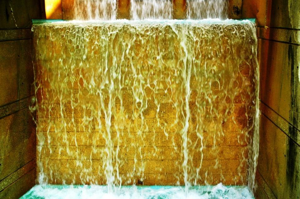 Waterfall in Cloud Gardens by Asha Gupta