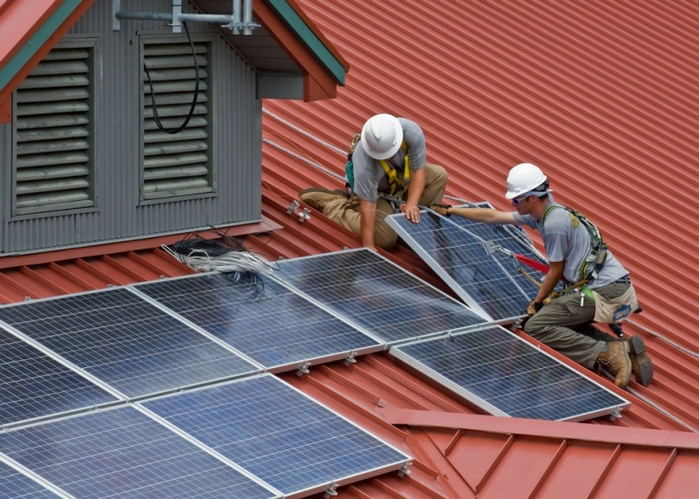 Solar Panel Construction by Wayne National Forest