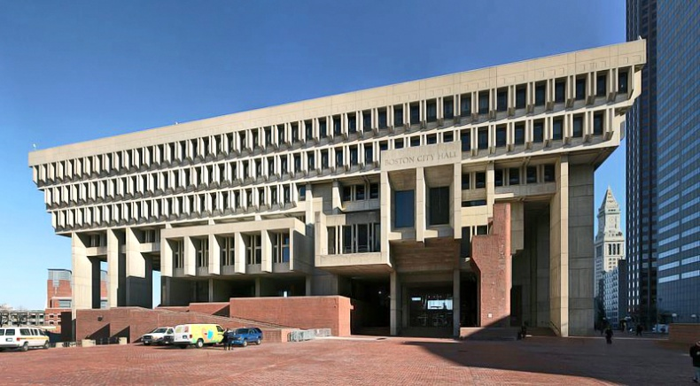 Boston City Hall by Wikimedia Commons