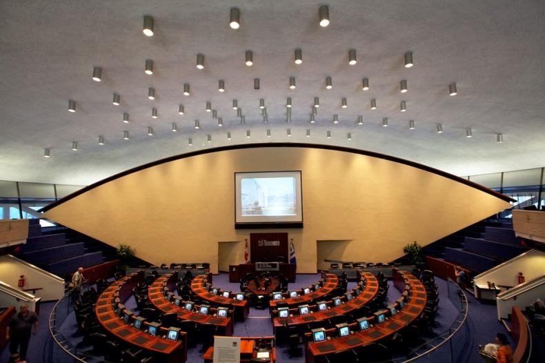 Toronto Council Chamber panorama