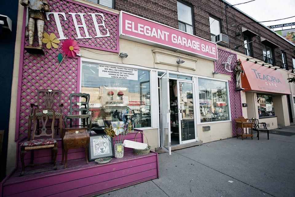 Second Hand Furniture Stores In Toronto The Elegant Garage Sale