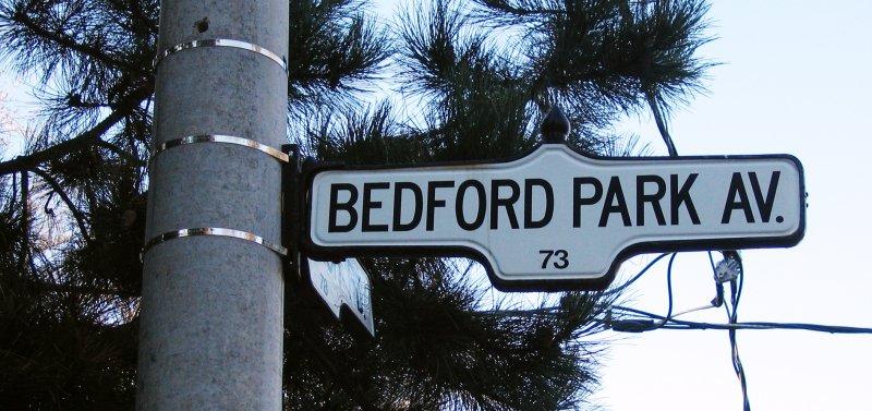 Bedford Park Toronto Sign