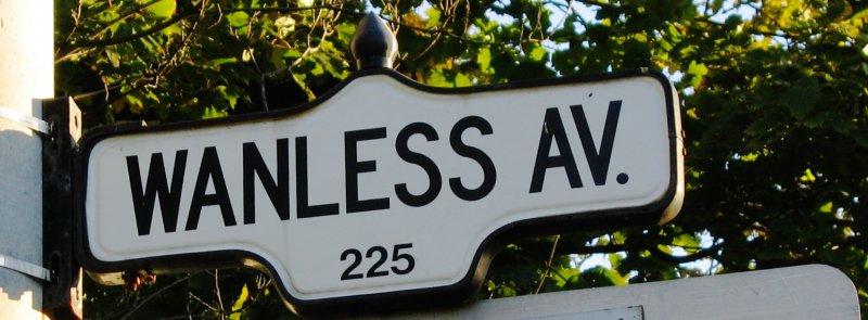 Wanless Avenue Street Sign