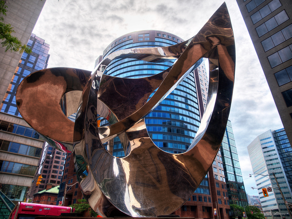 Abstract Statue In Toronto