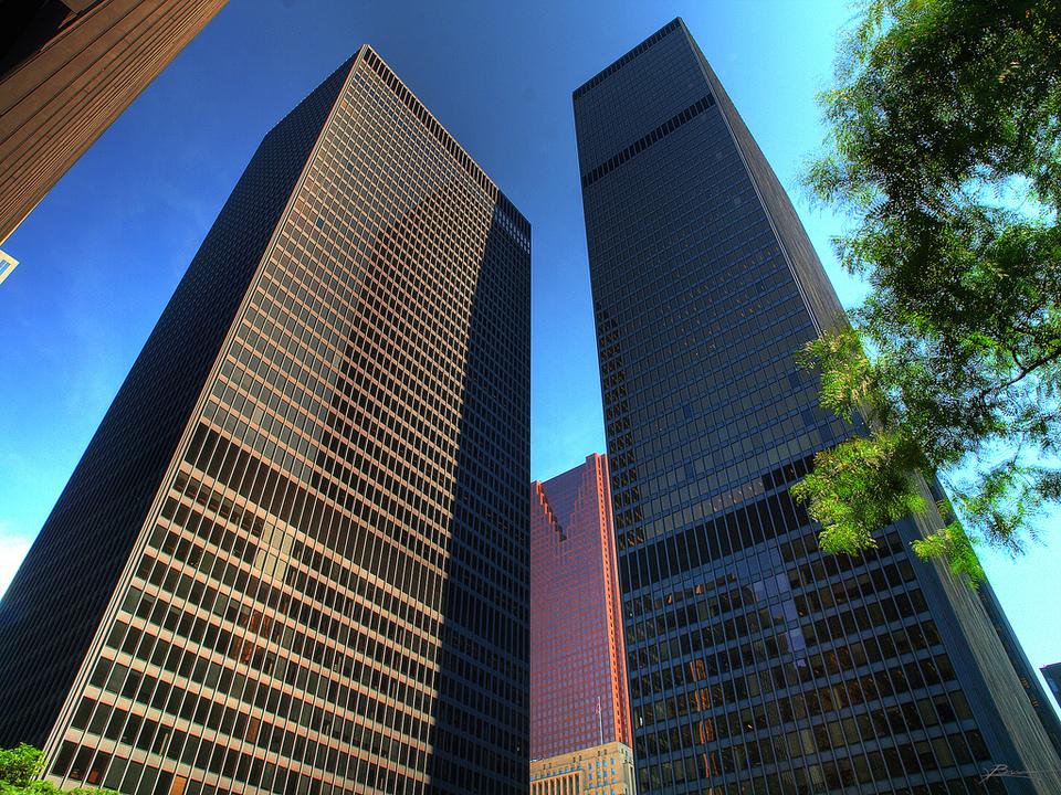 Black Towers In Toronto