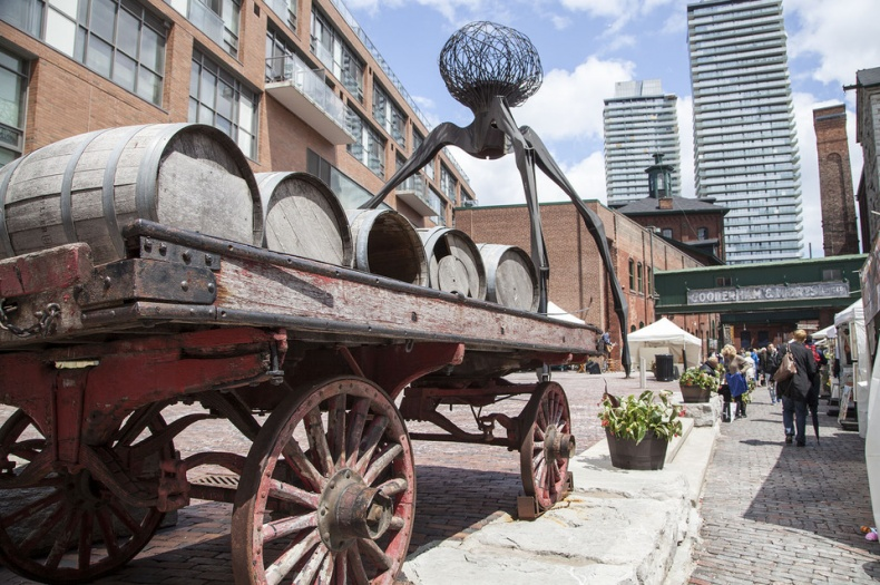 distillery district barrells decoration