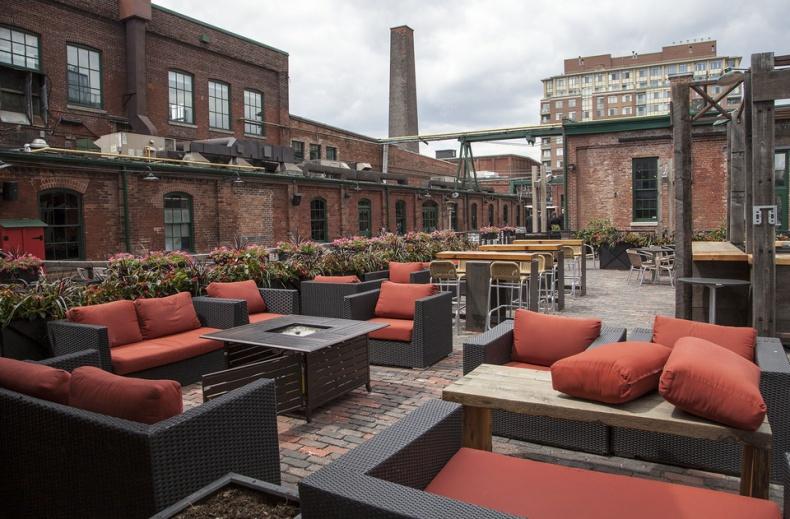 distillery district patios