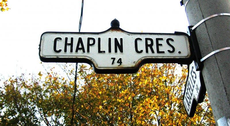 Chaplin Street Sign