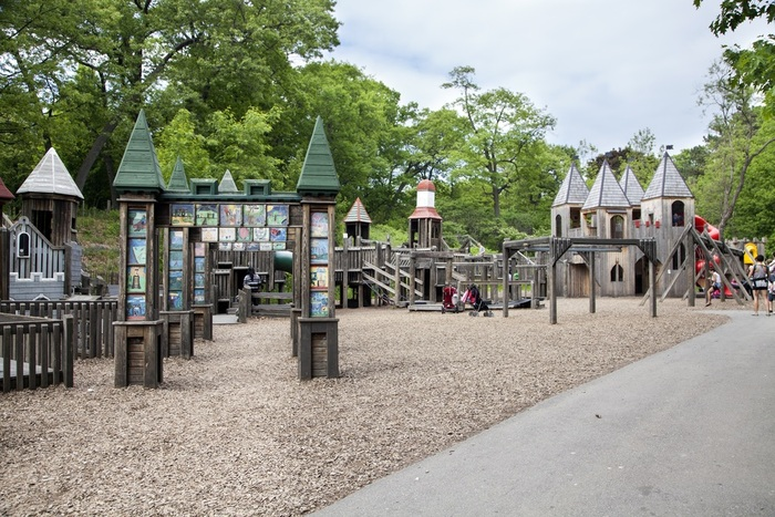 Giant fortlike playground for kids
