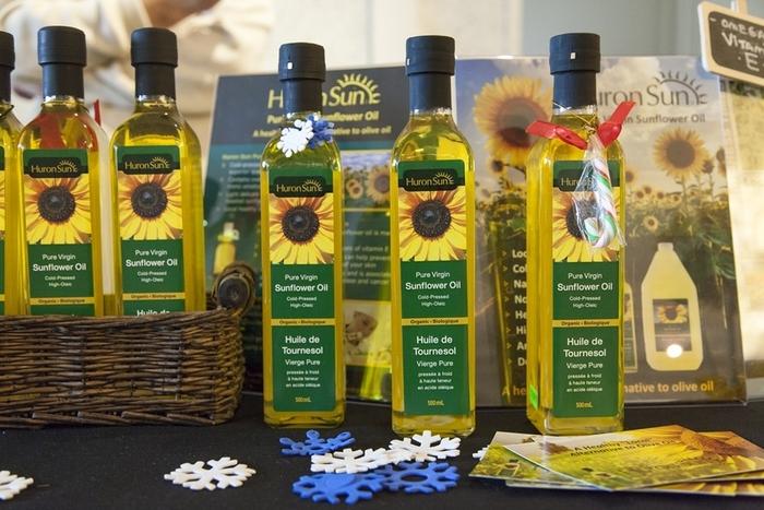 Virgin sunflower oil