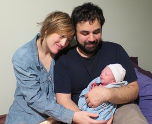 Kevin Lisa Janna with baby Andres Stephen Jana