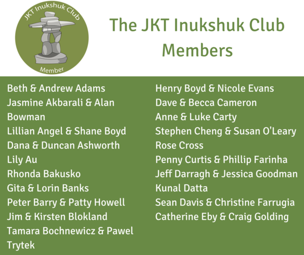 The JKT Inukshuk Club Members
