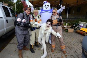 The JKT as Ghostbusters at the Annual JKT Pumpkin Patch 2016