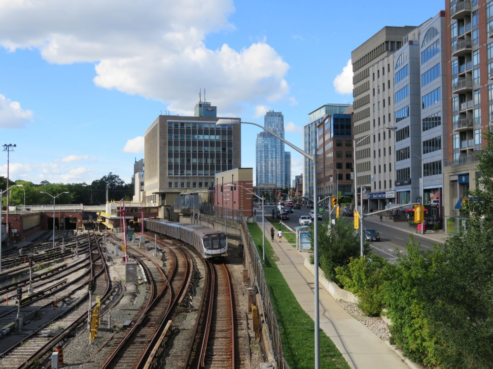 Looking north to Davisville Station and yards by Sean_Marshall