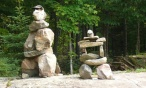 inukshuk with sunglasses