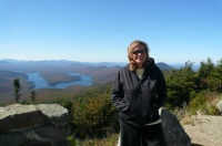 Julie Lake Placid in Background