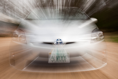 Prius jumps to lightspeed by Roger H  Goun