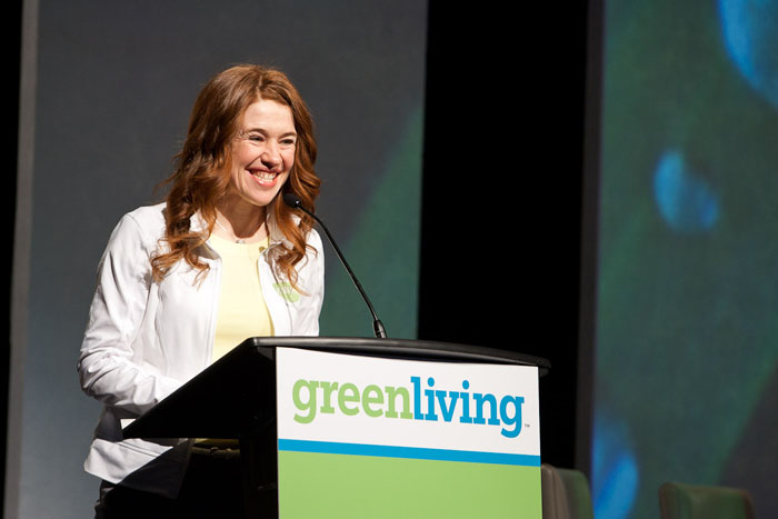 Clara Hughes at the Green Living Show 2010