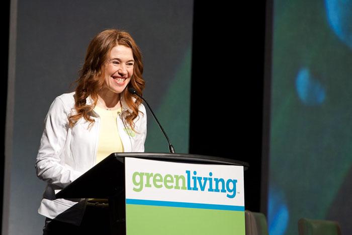 Clara Hughes at the Green Living Show 2010