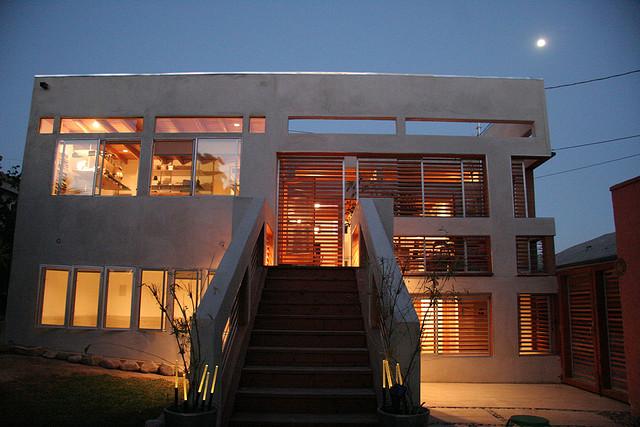 House as glowing lantern