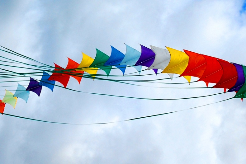 Colourful Kites by John Vetterli