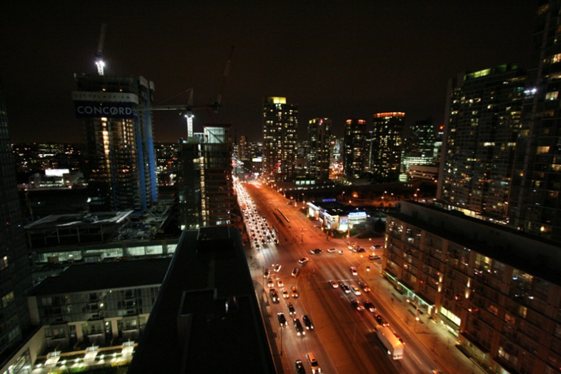 Toronto at night by