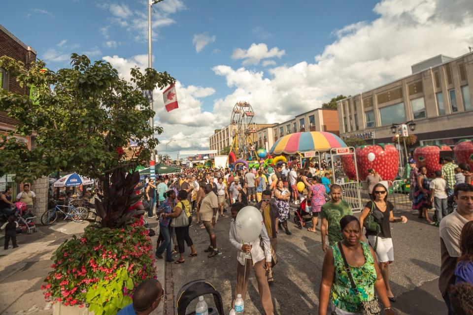 Pilaros Greek street festival visitors