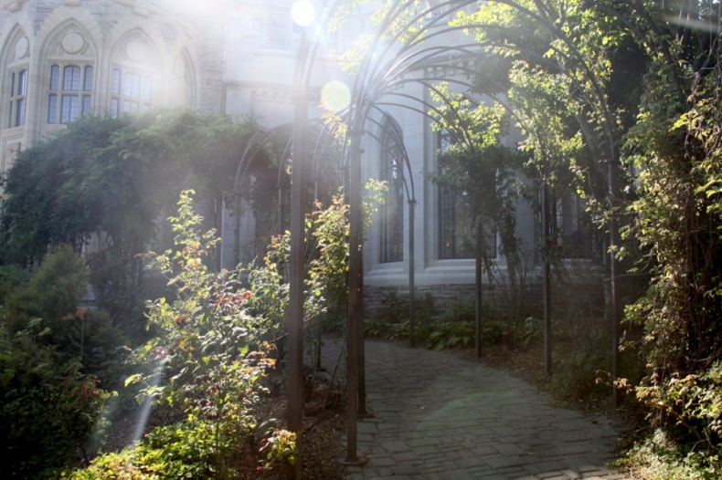 Casa Loma Estate Gardens in sunlight