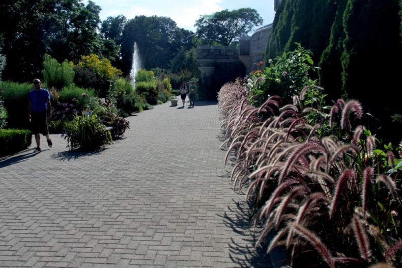 Landscaped gardens pathway Casa Loma