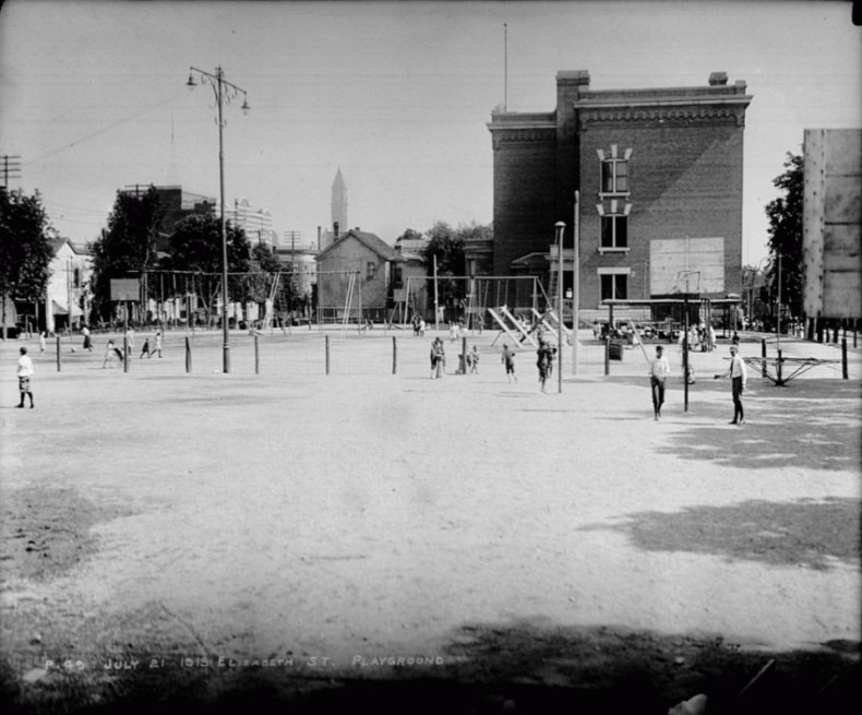 Elizabeth Street playground Toronto archives