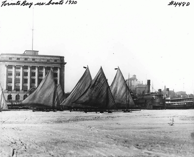Iceboats Toronto Harbour Commission building