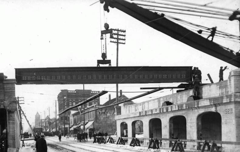 Railway bridge construction Toronto archive