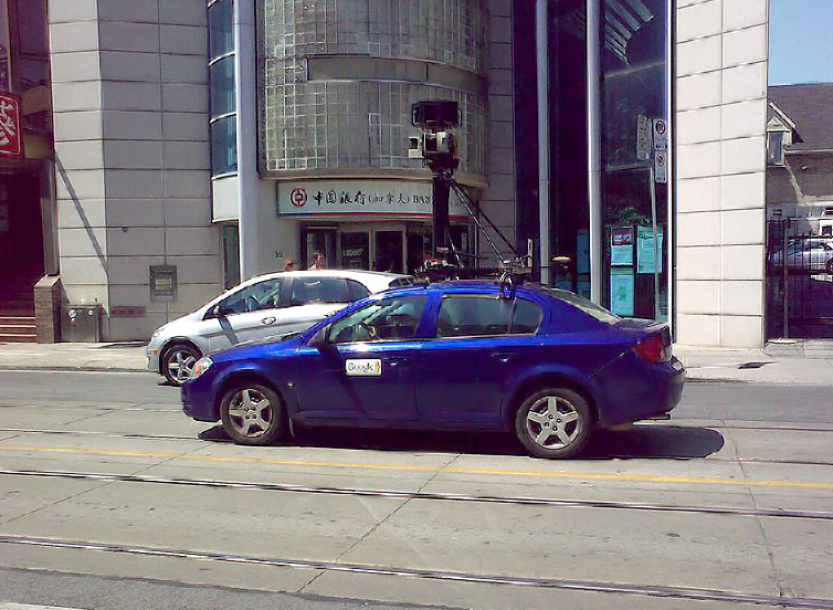 Google Street View Car in Chinatown Toronto by Wikimedia Commons