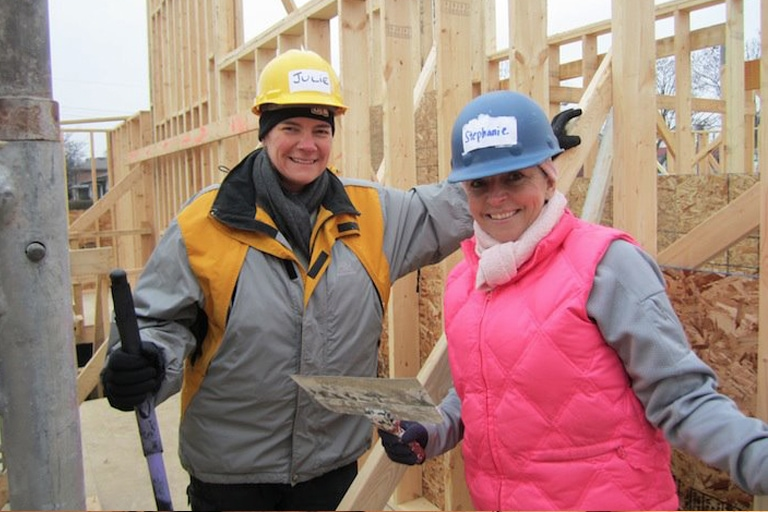 Habitat for Humanity Volunteering – December 2011
