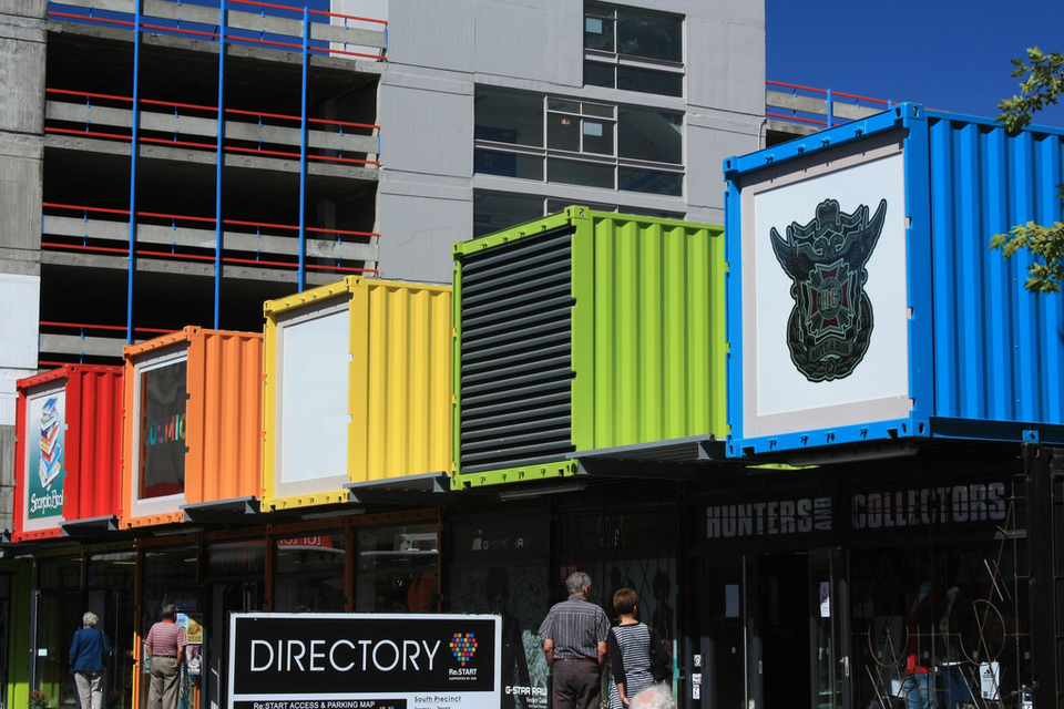 Shipping container shops by Albert Freeman 1