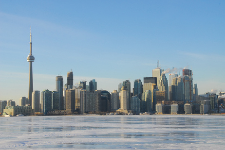toronto skyline from wards island