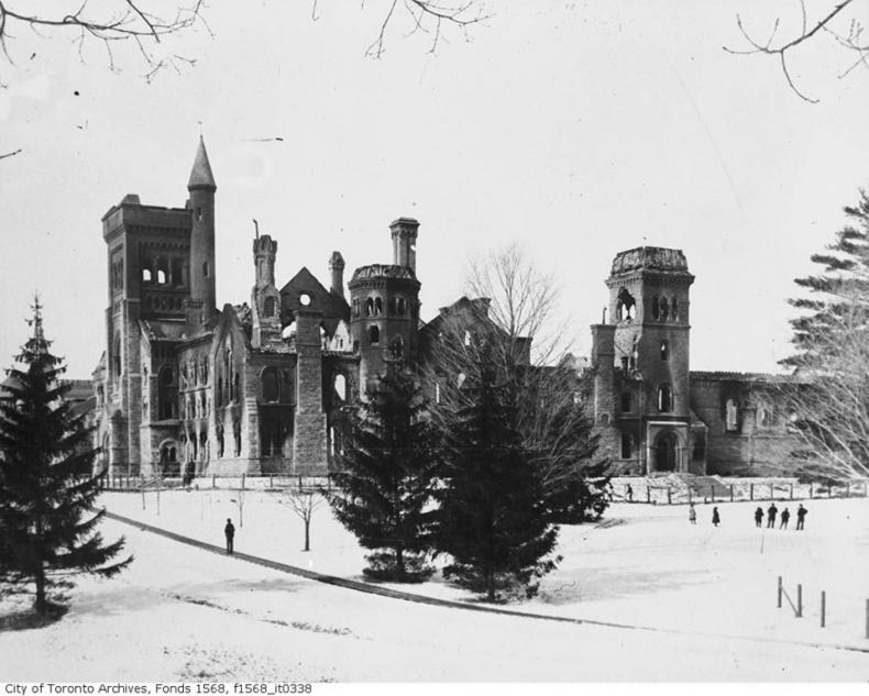 Ruins of University College University of Toronto 1890