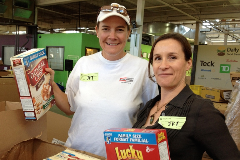 Volunteering at The Daily Bread Food Bank – September 2013