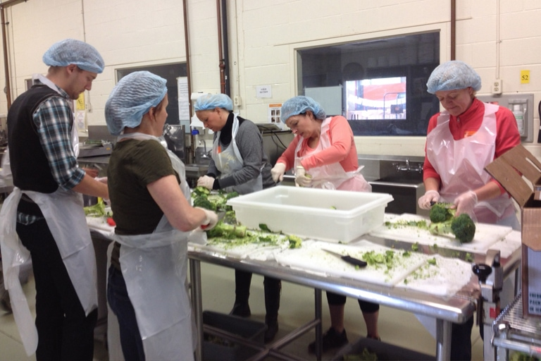 Volunteering at the Daily Bread Food Bank – November 2014
