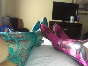 Stephs pink boots