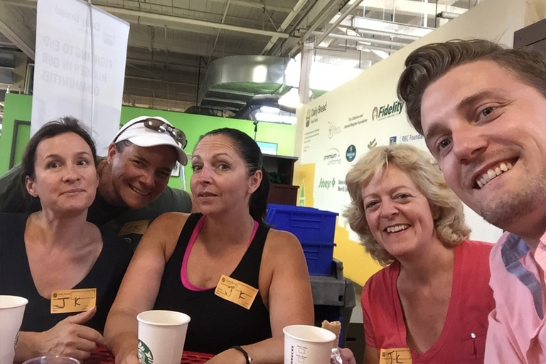 Volunteering at the Daily Bread Foodbank July 2015