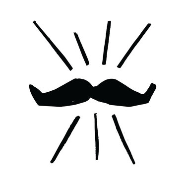 MG SLS1012 Movember Campaign Support Icon Mo Black
