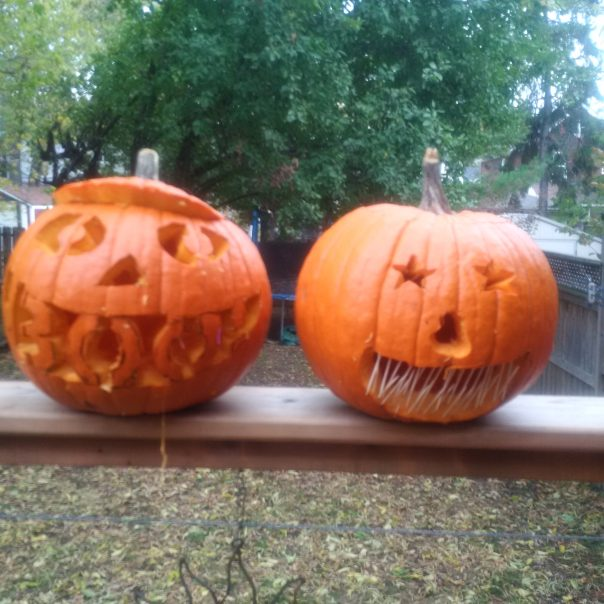 Step Rileys pumpkins