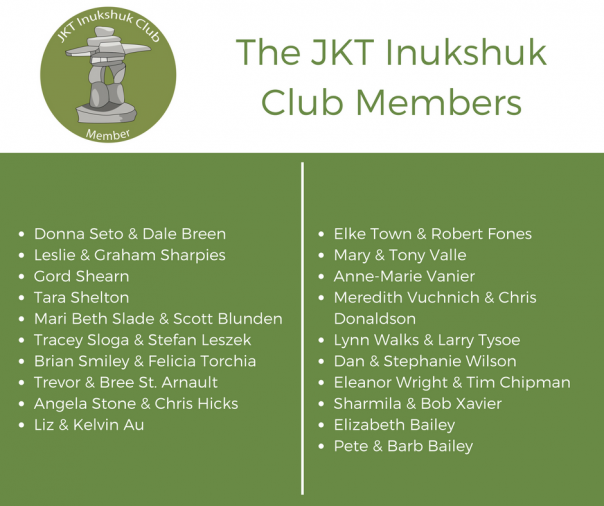The JKT Inukshuk Club Members
