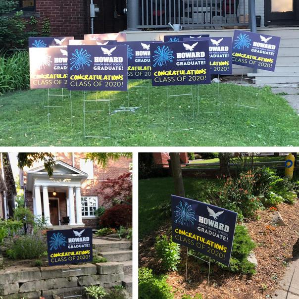 Graduate lawn signs