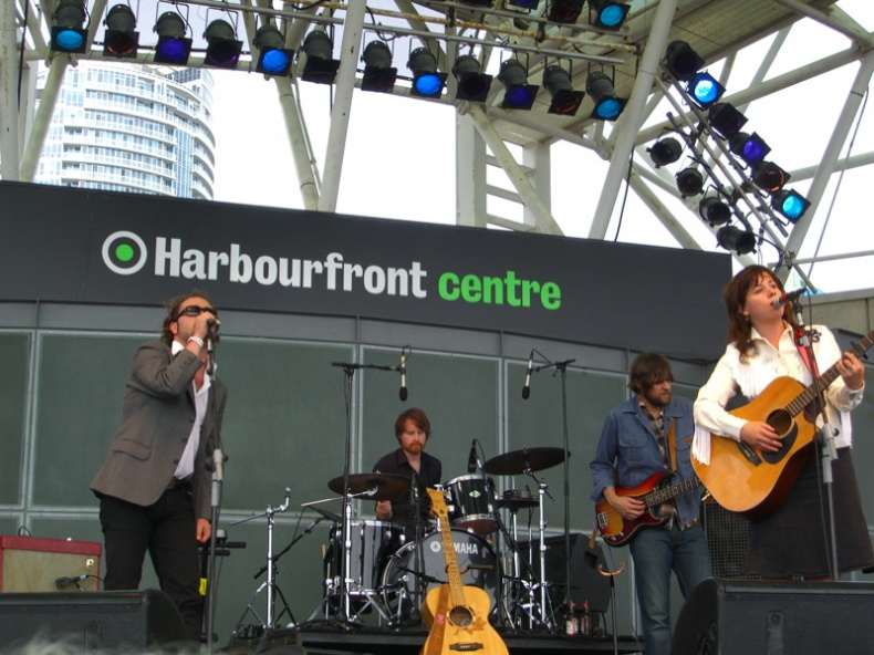 Amy Millan performing at the Harbourfront Centre - by Janice