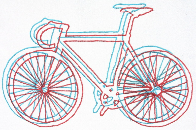 Steve McDonald  - Embroidered bicycle