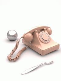 Retro modern phone by Stefan