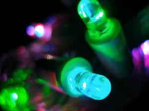 Blue Green LED Macro by James Dean