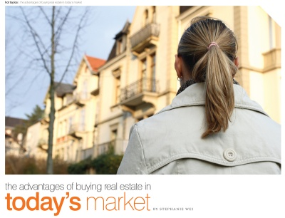 The advantages of buying real estate in todays market by Stephanie Wei